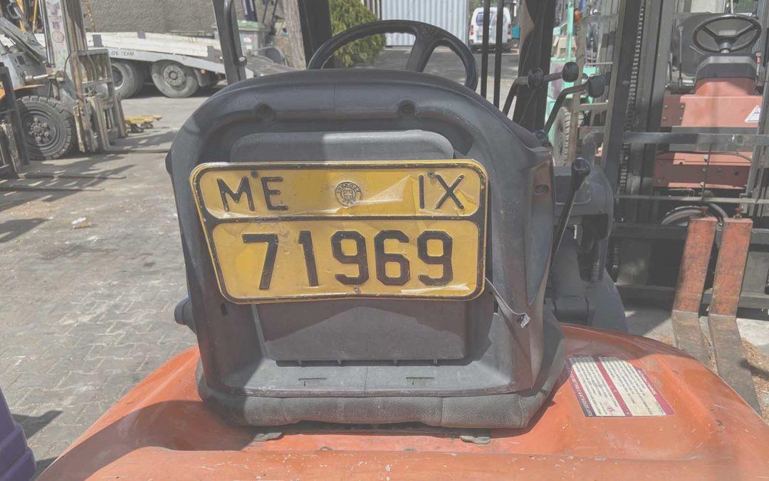Forklift Legislation & Registration Plates